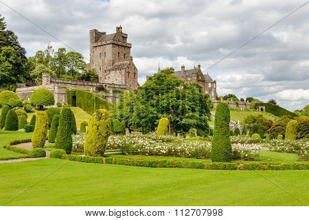 Drummond Castle In Perthshire, Scotland.