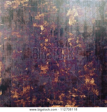 Designed grunge texture or background. With different color patterns: brown; gray; purple (violet); black