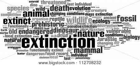 Extinction Word Cloud