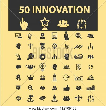 innovation technology, creative business icons