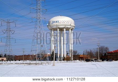 Power Lines and Water Tower