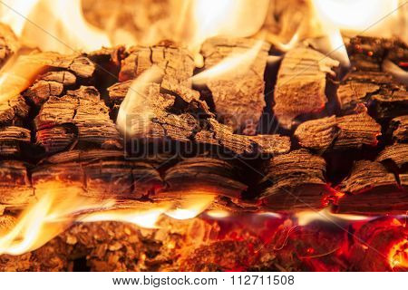 Burning Piece Of Wood