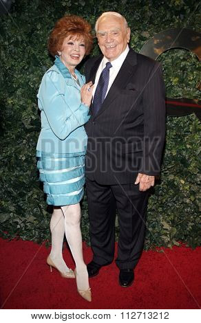 BEVERLY HILLS, CALIFORNIA - March 5, 2010. Ernest Borgnine and Tova Traesnaes at the Celebrate QVC Style held at the Four Seasons Hotel, Beverly Hills.