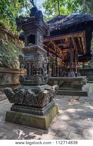 Balinese Temple In Ubud Sacred Monkey Forest On   Bali