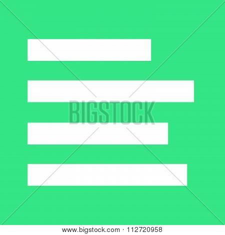 Align Left Icon Sign Illustration