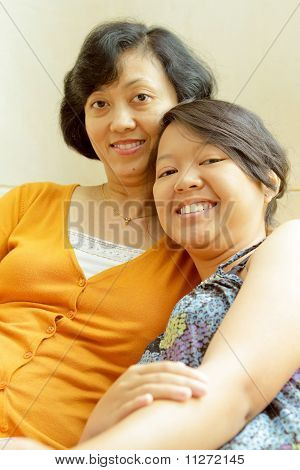 Happy Friendship of Mother And Teenage Daughter