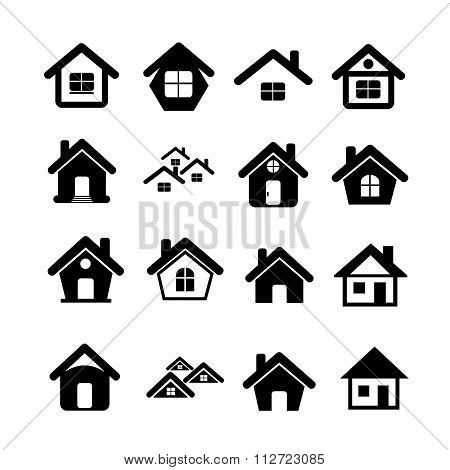 House Icon Real Estate Set For Website