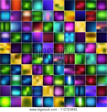 Set Of Abstract Bright Blurred Backgrounds