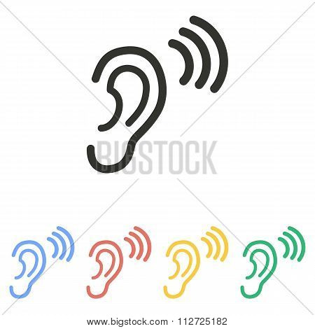 Ear  - Vector Icon.