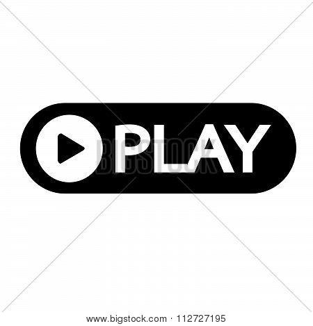 Play Button Icon Design Illustration