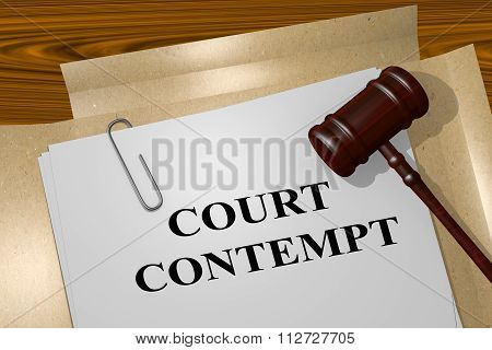 Court Contempt Concept