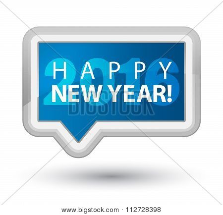 Happy New Year 2016 Blue Banner Button