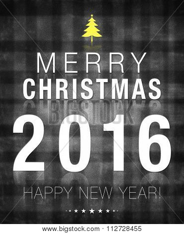 Merry Christmas 2016 Black