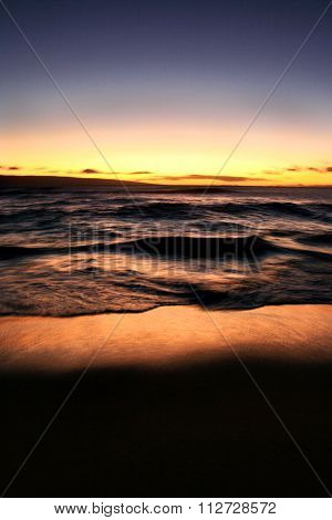 Waves at sunset