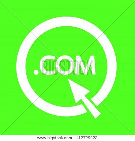 Domain Dot Com Sign Icon Illustration