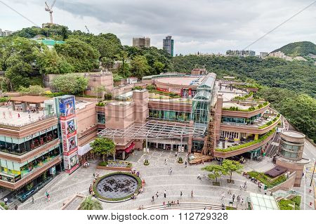 Hong Kong, China - Circa September 2015: The Peak Galleria Shopping Mall And Entertainment Center On