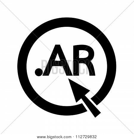 Argentina Domain Dot Ar Sign Icon Illustration
