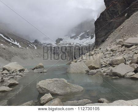 Glacial Lake, Cuernos Del Paine, Torre Del Paine National Park, Chile