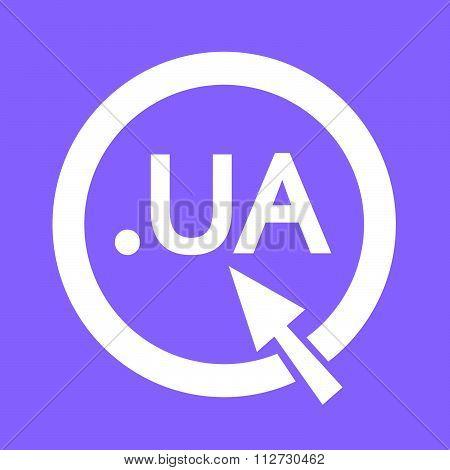 Ukraine Domain Dot Ua Sign Icon Illustration