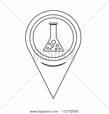 Map Pointer Test Tube Icon