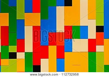 Multicoloured Toy Brick Wall