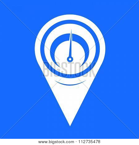 Map Pin Pointer Tachometer Icon