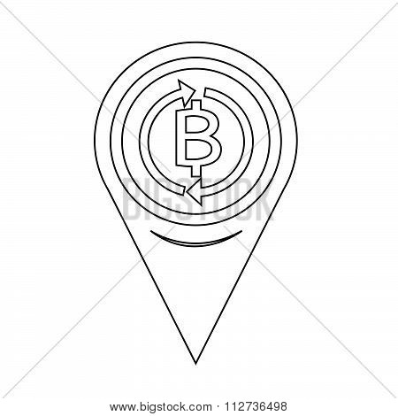 Map Pin Pointer Money Thai Bath Icon