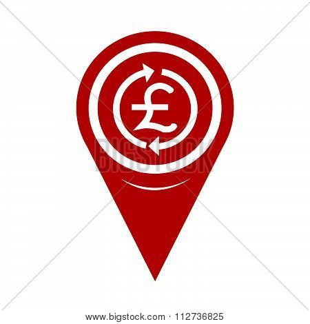Map Pin Pointer Money Pound Icon , Gbp Currency Symbol