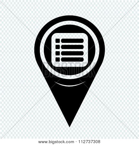 Map Pin Pointer Expand Menu Icon