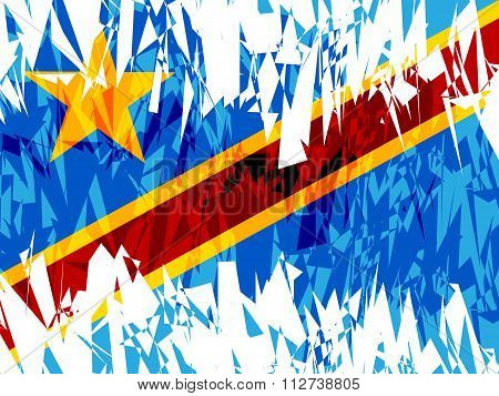 Flag Of Democratic Republic Of The Congo.