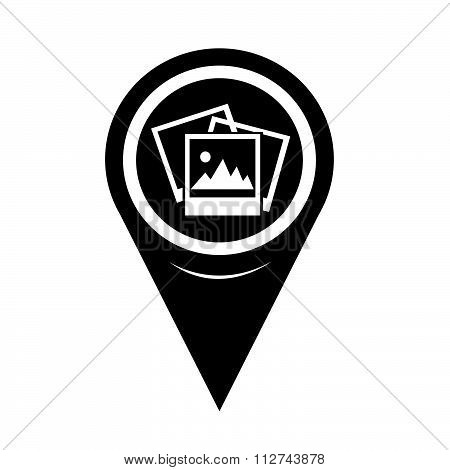 Map Pin Pointer Photograph Icon