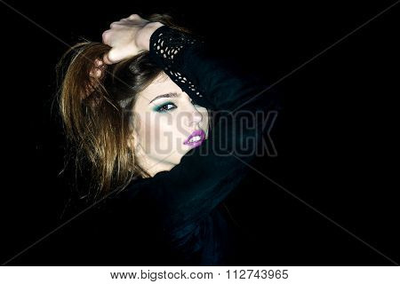 Sensual Woman At Night