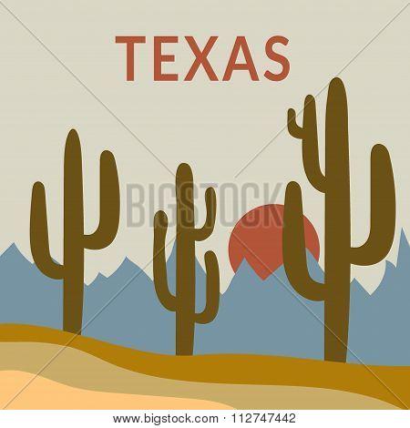 Texas t-shirt design