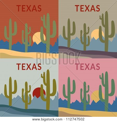 Texas t-shirt design set