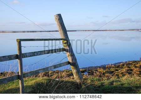 Old Wooden Fence By The Coast