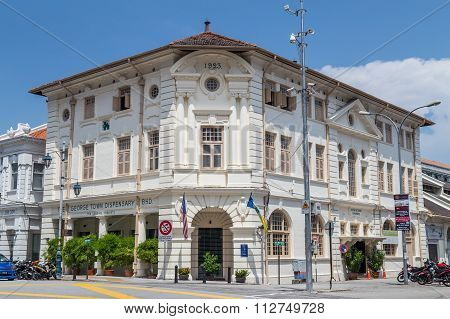 Georgetown, Penang/malaysia - Circa October 2015: British Colonial Building In Georgetown, Penang,