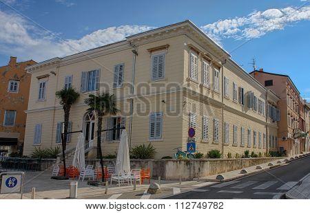 Building Of Hostel In Porec In Croatia