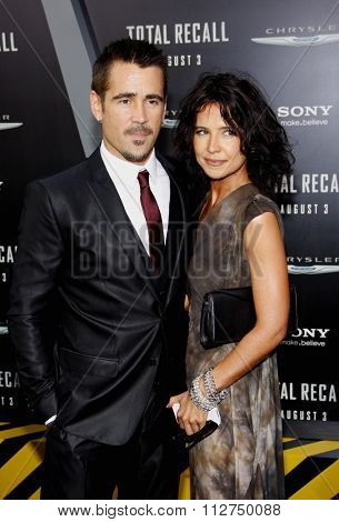 Colin Farrell and Claudine Farrell at the Los Angeles premiere of