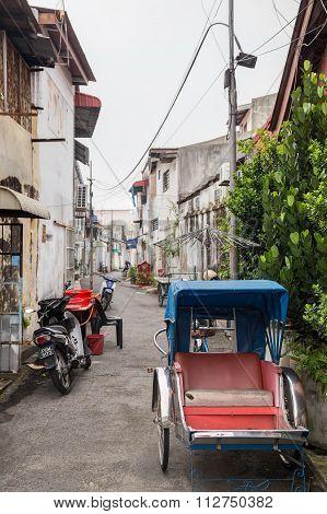 Georgetown, Penang/malaysia - Circa October 2015: Rikshaw Car In Georgetown, Penang,  Malaysia