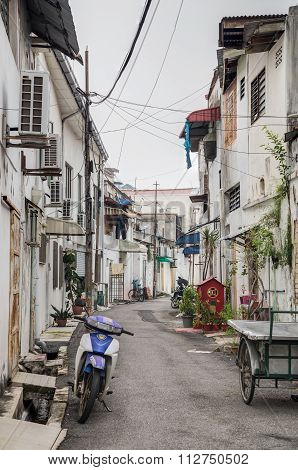 Georgetown, Penang/malaysia - Circa October 2015: Old Streets And Architecture Of Georgetown, Penang
