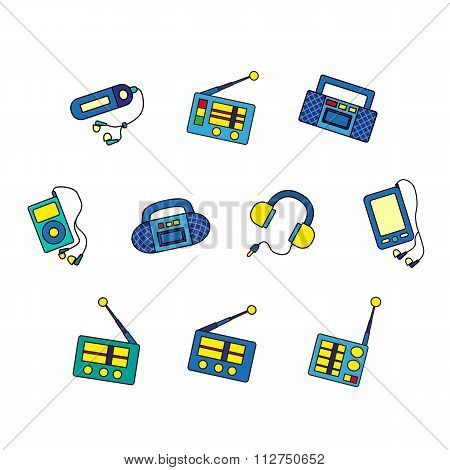 Set Of Music Devices