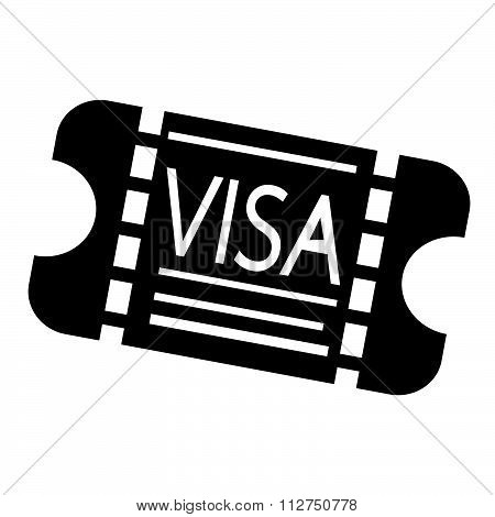 Entrance Visa Icon Illustration Design