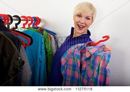 Woman Choosing Her Shirt