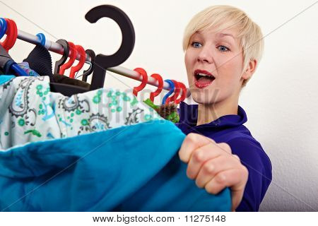 Woman Founds Her Clothes