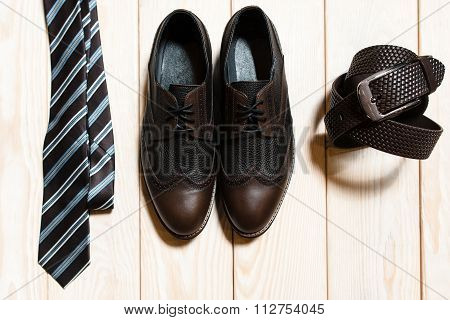 Set Of Mens Conservative Style Accessory