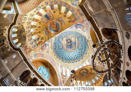 The Painting On The Dome Of The Naval Cathedral Of Saint Nicholas, Near Saint-petersburg