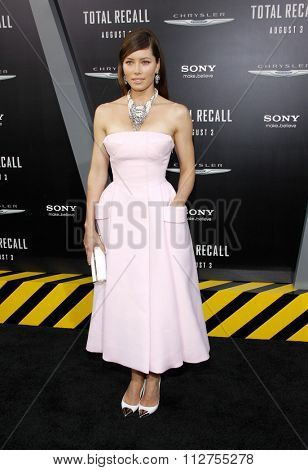 Jessica Biel at the Los Angeles premiere of