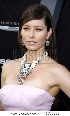 LOS ANGELES, CALIFORNIA - August 1, 2012. Jessica Biel at the Los Angeles premiere of