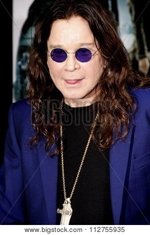 LOS ANGELES, CALIFORNIA - August 1, 2012. Ozzy Osbourne at the Los Angeles premiere of
