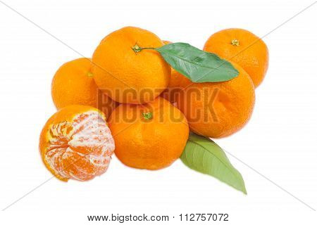 Small Pile Of A Mandarin Oranges
